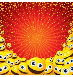 Joyful smiley background image with free space for vector