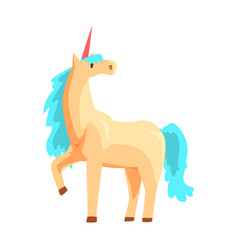 magical unicorn horse with turquoise mane vector image
