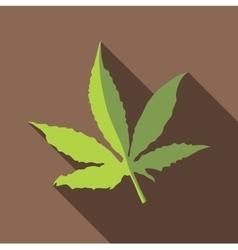Marijuana leaf icon flat style vector
