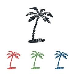 Palm grunge icon set vector