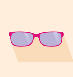 Pink glassess long shadow flat design yellow vector