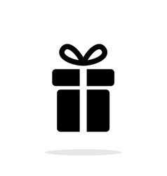Present icon on white background vector image vector image