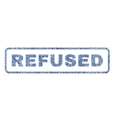 Refused textile stamp vector