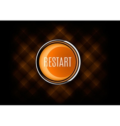 Restart Button vector image vector image