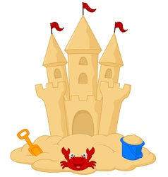 Sand castle cartoon vector