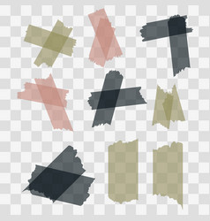scotch adhesive tape pieces isolated on vector image vector image