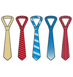 set of male business ties vector image vector image