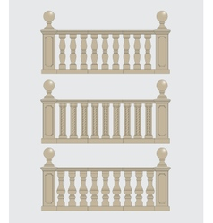 Set of silhouettes balustrades vector image