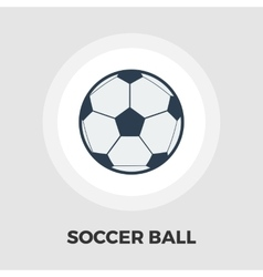 Soccer ball icon flat vector image vector image