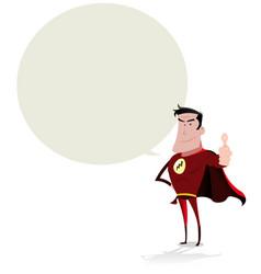 Super hero speech bubble vector