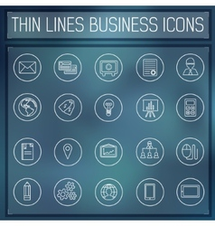thin line business set icons concept Color vector image vector image