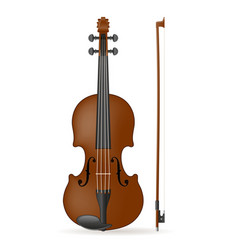 violin stock vector image