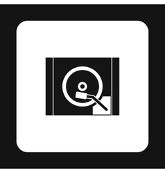 Hdd icon in simple style vector