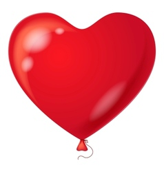 Red balloon heart shaped vector