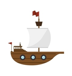 Sailboat toy kid isolated icon vector