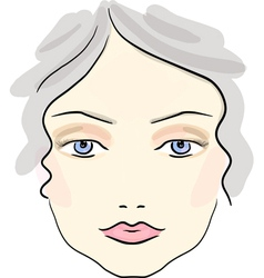 Classical daily make up pattern vector
