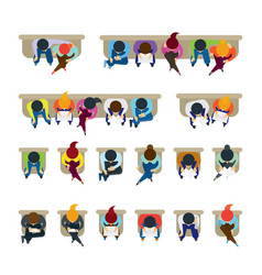 People sitting on chairs vector