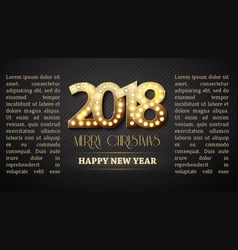 2018 new year count symbol with light bulbs vector