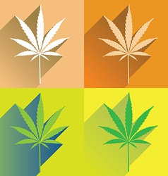 Cannabisflat vector