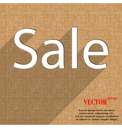Sale tag icon symbol flat modern web design with vector