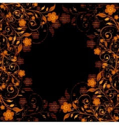 golden floral ornament vector image