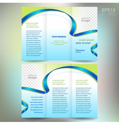 Brochure ribbon element band wave line vector