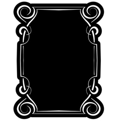 Black frame with elegant border vector