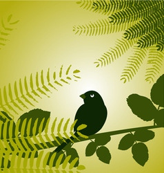 bird with plants vector image