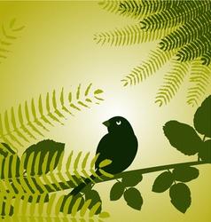 Bird with plants vector