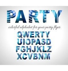 Funny colorful alphabet for party flyers or vector