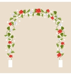 Arch with flowers vector