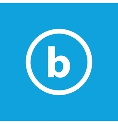 Basic font for letter b vector