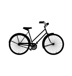 Silhouette of bicycle vector