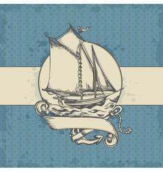 Sea vintage vector