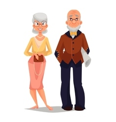 Elderly couple man and woman vector