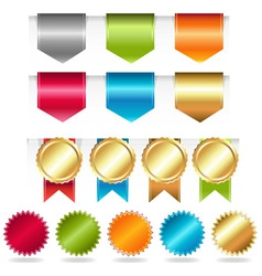 Ribbon and tabs vector