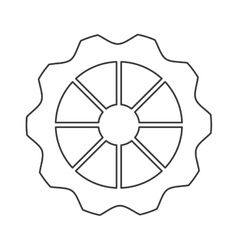 Single gear icon vector