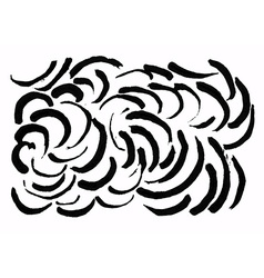 Abstract brush traces vector