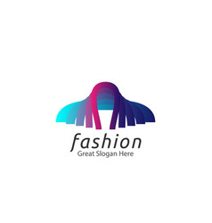abstract tailor suit fashion logo concept vector image