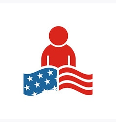 America people usa logo icon vector