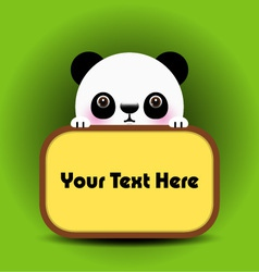 baby panda with place your text here vector image vector image