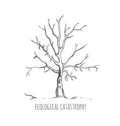 Bad ecology sketch concept vector