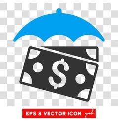 Banknotes Umbrella Icon vector image