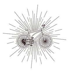 bicycle over burst background isolated icon design vector image