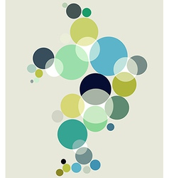 Blue tones bubbles background vector