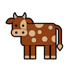 Cow farm isolated icon vector