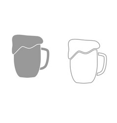cup beer it is black icon vector image vector image