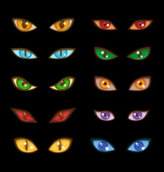 danger animal monster evil glow eyes expressions vector image