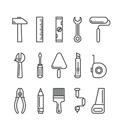 Different industrial equipment tool icons vector image