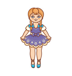 Doll childrens toy vector